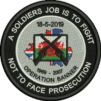 A soldiers job is to fight embroidered Badge